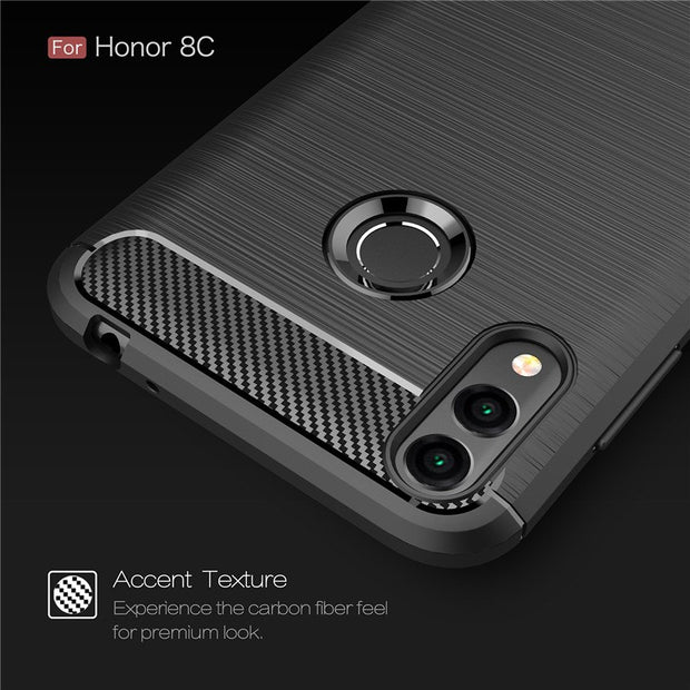 Honor8C Case For Huawei Honor 8C Back Cover Carbon Fiber Thin Slim