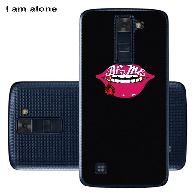 best service 0269c 54190 I Am Alone Phone Cases For LG K7 X210DS 2016 5.0 Inch Hard Plastic  Patterned Fashion Shell Bags For LG K7 MS330 Free Shipping