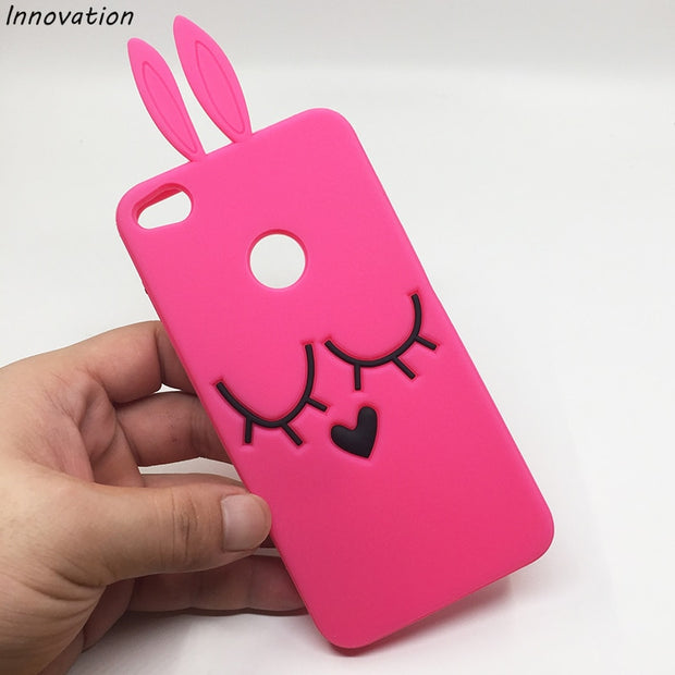 reputable site 98383 cbfce Innovation 3D Cute Rabbit Ear Case For Huawei P8 Lite 2017 Soft Silicon  Phone Cases For Huawei Honor 8 Lite 5.2