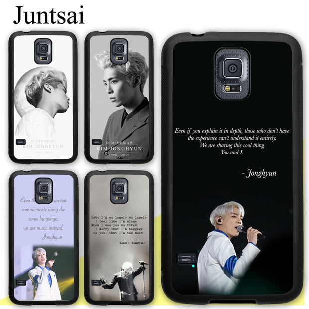 Juntsai Lonely Jonghyun Lyrics SHINee TPU Full Protect Cover For Samsung  Galaxy S4 S5 S6 S7 Edge S8 S9 Plus Note 9 8 5 4 Case