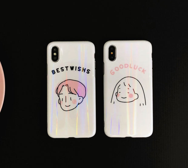 reputable site 9526b 044a4 Kuutti Squishy Lovely Korean Style Laser Cartoon Girls Boys Couple TPU  Phone Cases For IPhone 6 6s 7 8 Plus X Covers Gifts Her