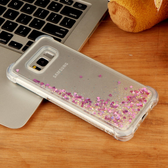 Luckbuy Liquid Glitter Sand Star Mobile Phone Cases For Samsung Galaxy S8 S8plus S7 Edge Note8 Heart Dynamic Plastic Back Fundas Grade Products According To Quality Cellphones & Telecommunications Phone Bags & Cases