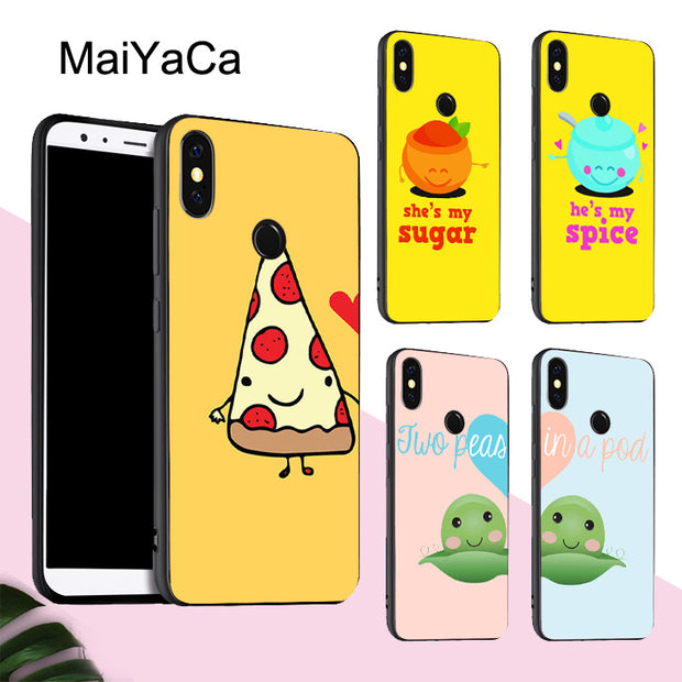 new arrival aba73 77fc4 MaiYaCa Best Friends Pizza Beer Matching Food Silicone Phone Case For  Xiaomi Redmi 5Plus Note 5 Pro 4X Mi 8 6 Max 3 MIX 2S Cover