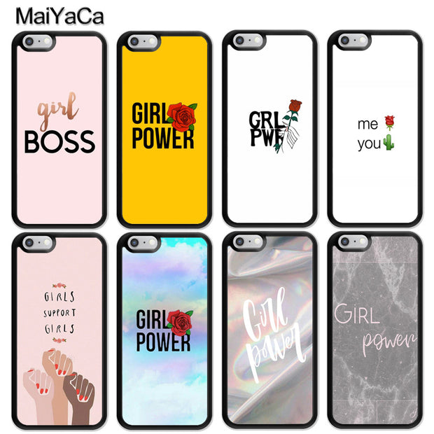 0f1a41a27e MaiYaCa Girls Power Mobile Phone Cases Accessories For IPhone 6 6S 7 8 Plus  XS Max