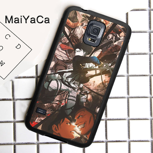 Maiyaca Levi Ackerman Attack On Titan Phone Case For Samsung Galaxy S8 S9 S4 S5 S6 S7 Edge Plus Note 5 4 8 9 Tpu Back Cover