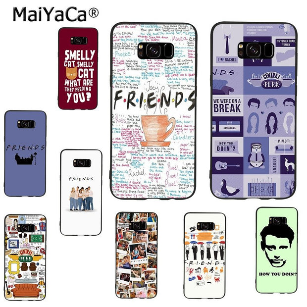 MaiYaCa Friends Tv Show Series Black Silicone Soft Phone Case For Samsung  Galaxy S8plus S9plus S7 S6 Note8 Note 5 4 Case