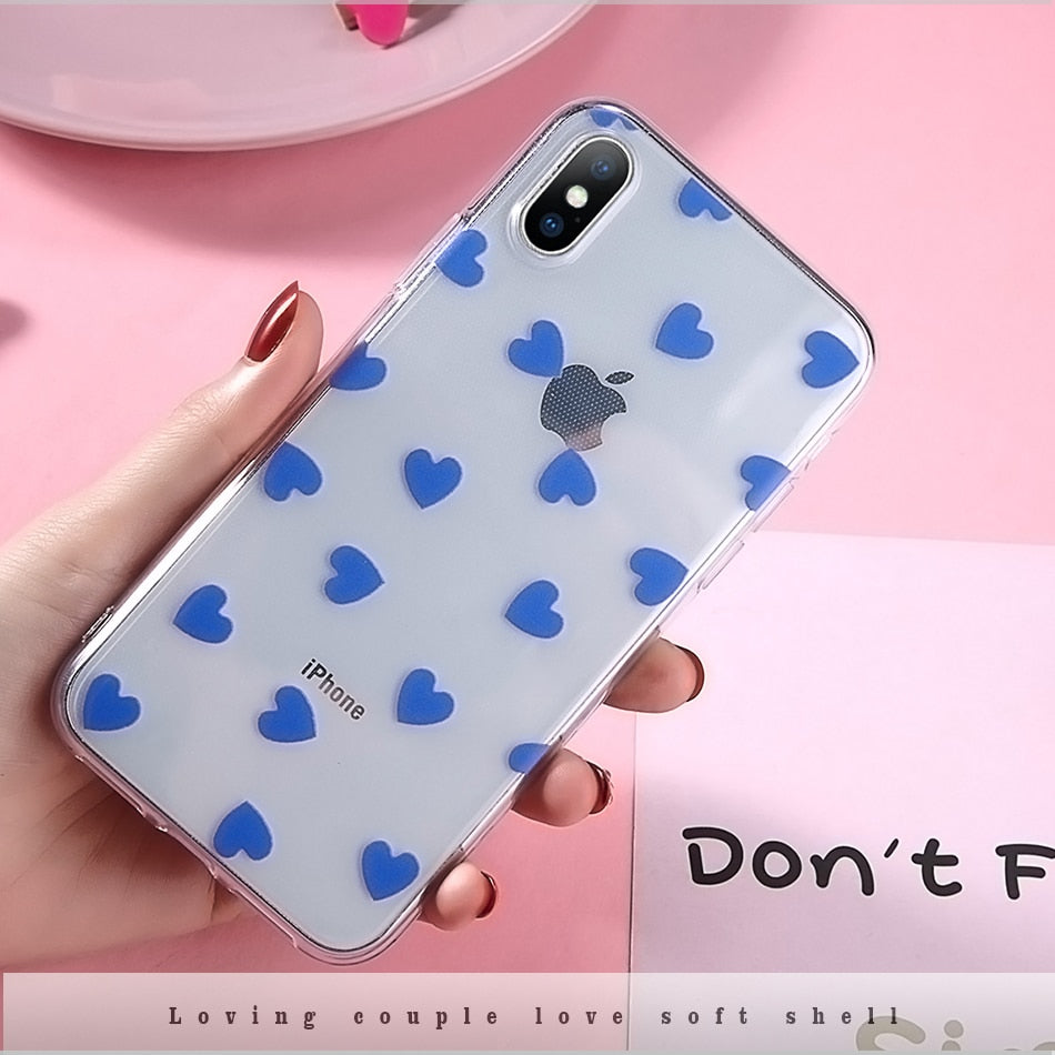 e509f54856 Moskado Phone Case For Iphone 6 6S 7 8 Plus Cartoon Love Heart Clear Ultra  Thin Soft TPU For Iphone X XS Max XR Couples Case