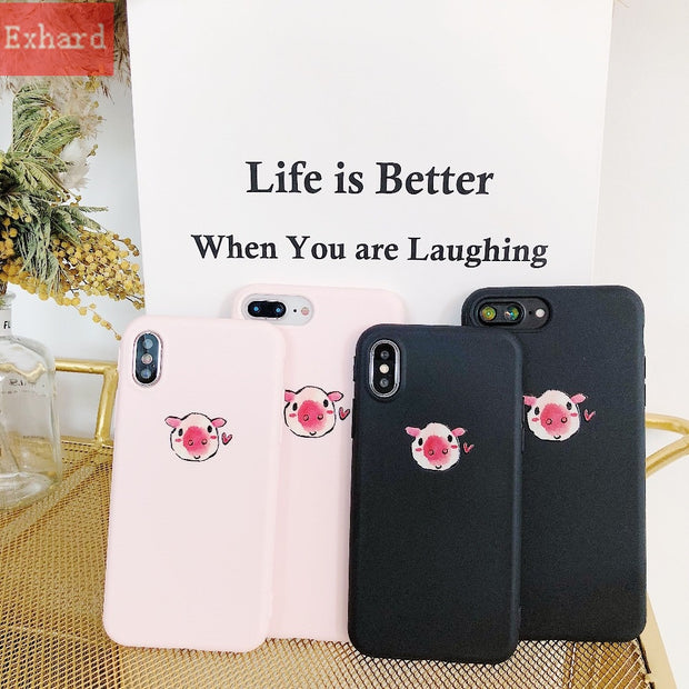 Newest Cartoon Cute Wallpaper Pig Tpu Case For Iphone X 8 8 Plus 7