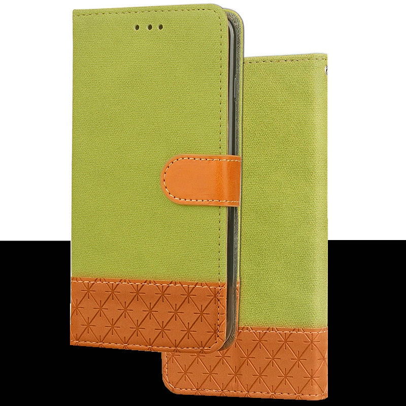 IPhone 5 flip-book case funda funda verde
