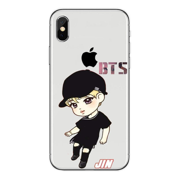 Boys' Shoes Clothes, Shoes & Accessories Phone Cases Bts Bangtan Boys Cute Cartoon For Iphone X 10 5 5s Se 6 6s 7 8 Plus High Quality Clear Soft Tpu Silicone Coque Cover