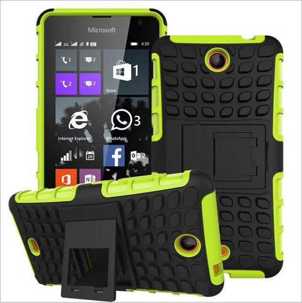 low priced 9de33 a3f31 Shockproof Armor Stand Case For Microsoft Lumia 430 Cover,Hybrid TPU ...