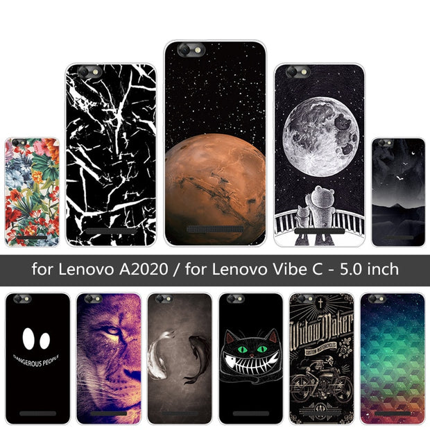 Soft Silicone For Lenovo Vibe C / A2020 Lion Phone Cases For Lenovo A2020  A2020a40 DS A 2020 5 0