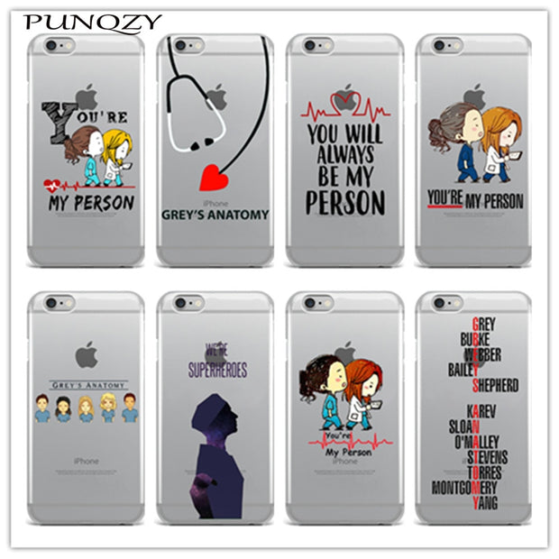 newest 15742 db338 Soft Transparent TPU Silicone Grey's Anatomy Phone Case Cover For IPhone X  6 6s 7 7Plus 8 Plus 5 SE 5s Back Cover Fundas Coque