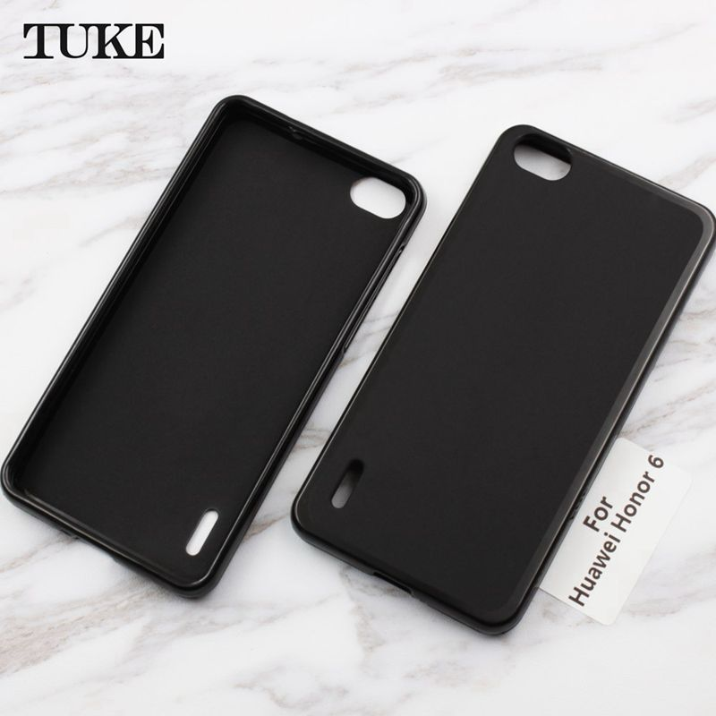new arrival d74c9 d1ed8 TUKE For Huawei Honor 6 Case Soft Silicone Case For Huawei Honor6  Shockproof Phone Back Cover Coque Protective Shell Skin Bag