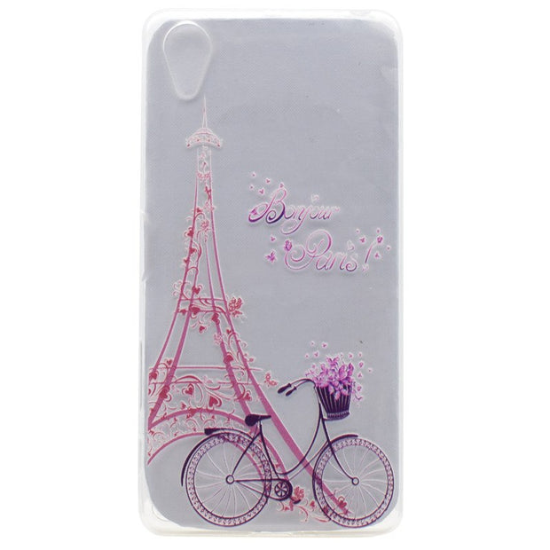 49b8d0f122 Transparent TPU Cover For Sony Xperia X Perfor Case Fashion Colour  Decoration Tower Bike Butterfly Girl