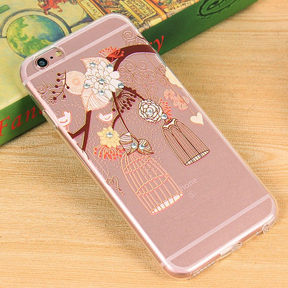 Women s Ultra Thin Soft TPU Back Protection Full Body Cover Case Crystal  Shockproof Case ForiPhone 6 Plus   6s Plus 80d136689d
