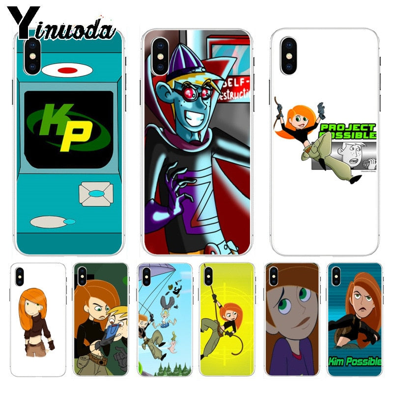 new style b5caf 915c6 Yinuoda Kimmunicator Kim Possible Luxury Hybrid Phone Case For Apple IPhone  8 7 6 6S Plus X XS Max 5 5S SE XR Mobile Cover