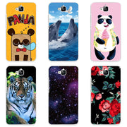Hard Plastic Phone Case Cover For Huawei Enjoy 5 TIT-AL00 Phone Shell  Colorful Printing Design Painted Hard Case Shell Flower