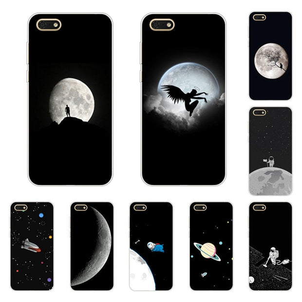 Huawei Y5 Prime 2018 Case,Silicon Black Graffiti Painting Soft TPU Back  Cover For Huawei Y5 2018 Protect Phone Cases Shell