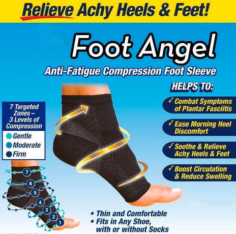 Black - Foot Angel  Pain Soothing Support Socks   GoInsShop