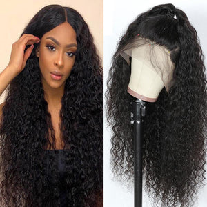 curly human hair full  lace front wigs with baby hair