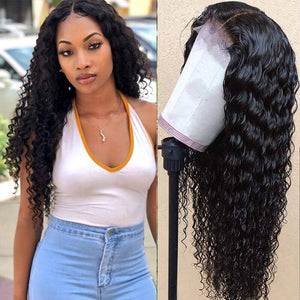 Deep Wave Lace Wigs Human Hair