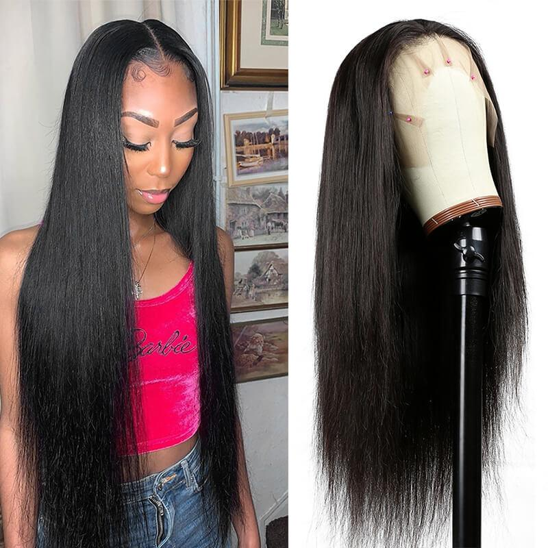 straight human hair full lace front wigs with baby hair