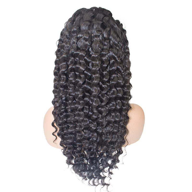 deep wave full lace front wigs human hair