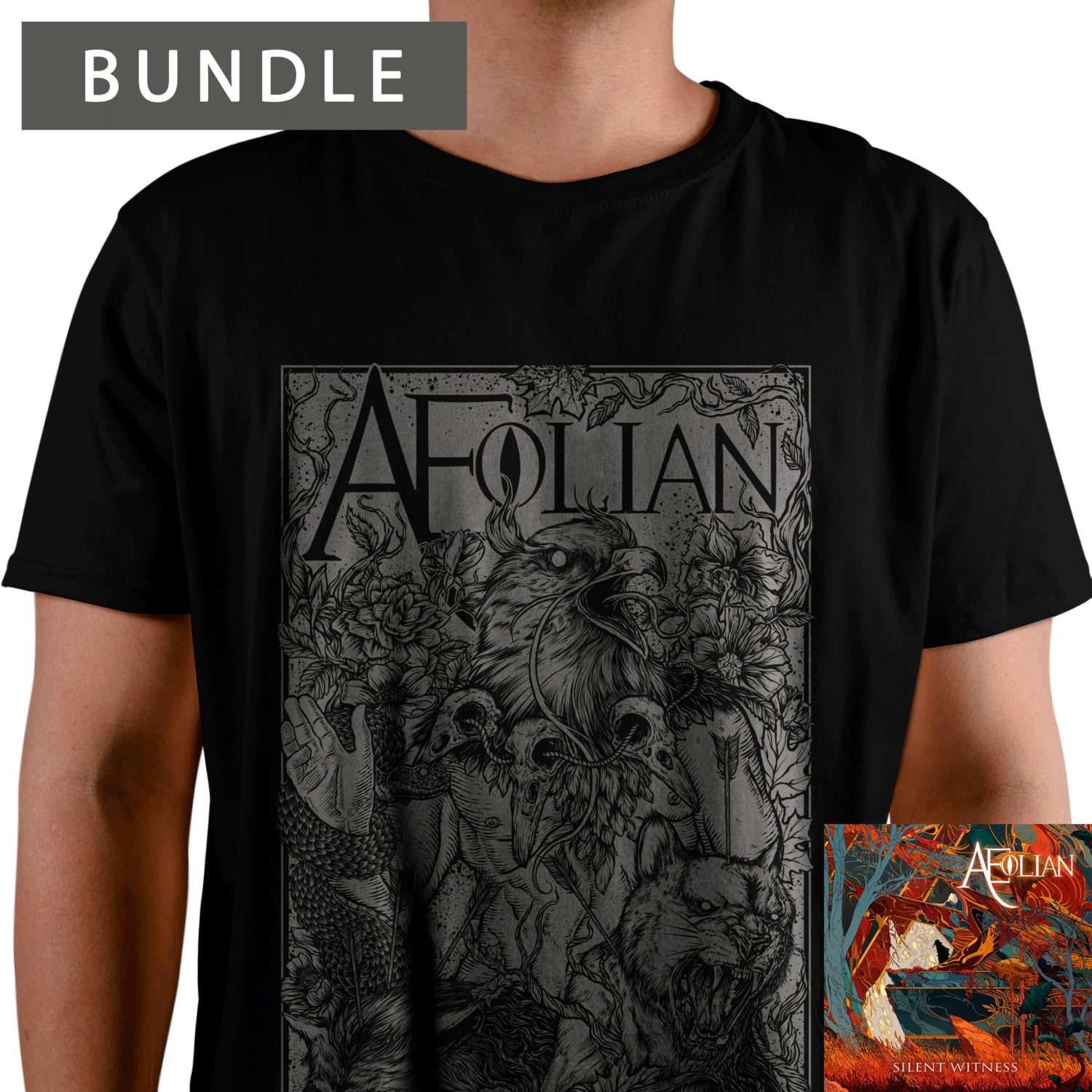 Aeolian - Silent Witness T-shirt + CD bundle