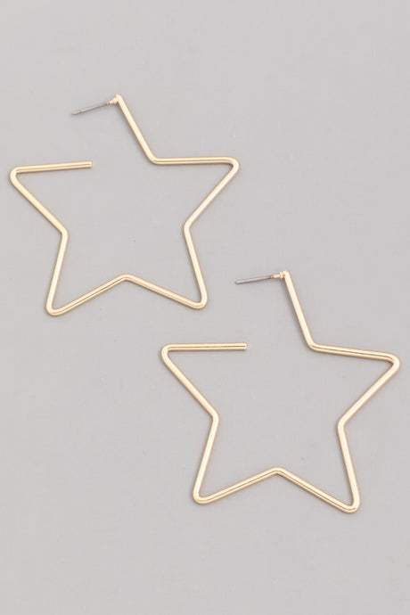 Star Wire Hoops