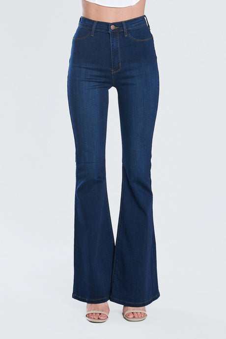 High Rise Flare Jeans Dark Wash
