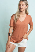 Solid Short Sleeve Pocket Tee