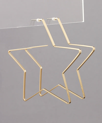Thin Star Metal Hoops