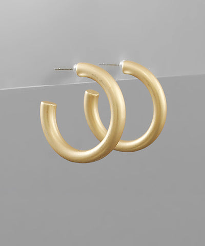 1 Inch Gold Open Hoops