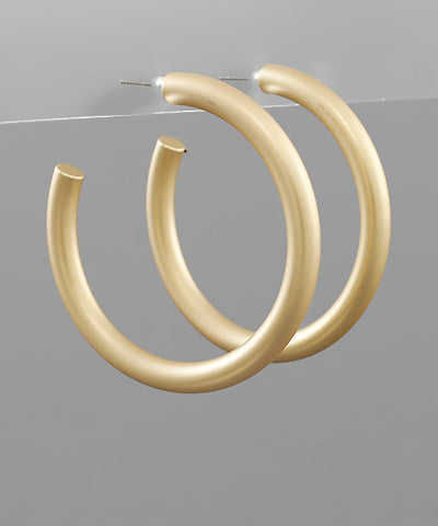 2 Inch Gold Open Hoops
