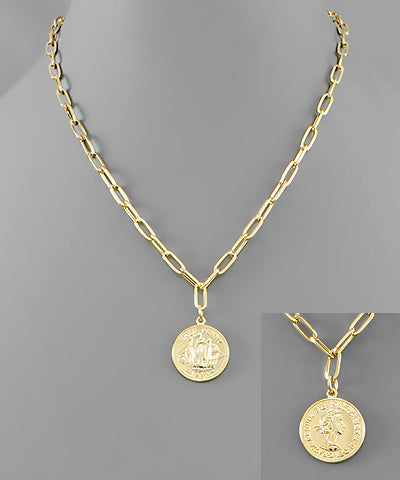 Coin & Chain Necklace