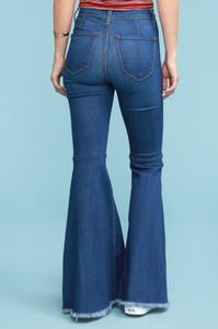 High Rise Super Flare Bell Bottom Jeans