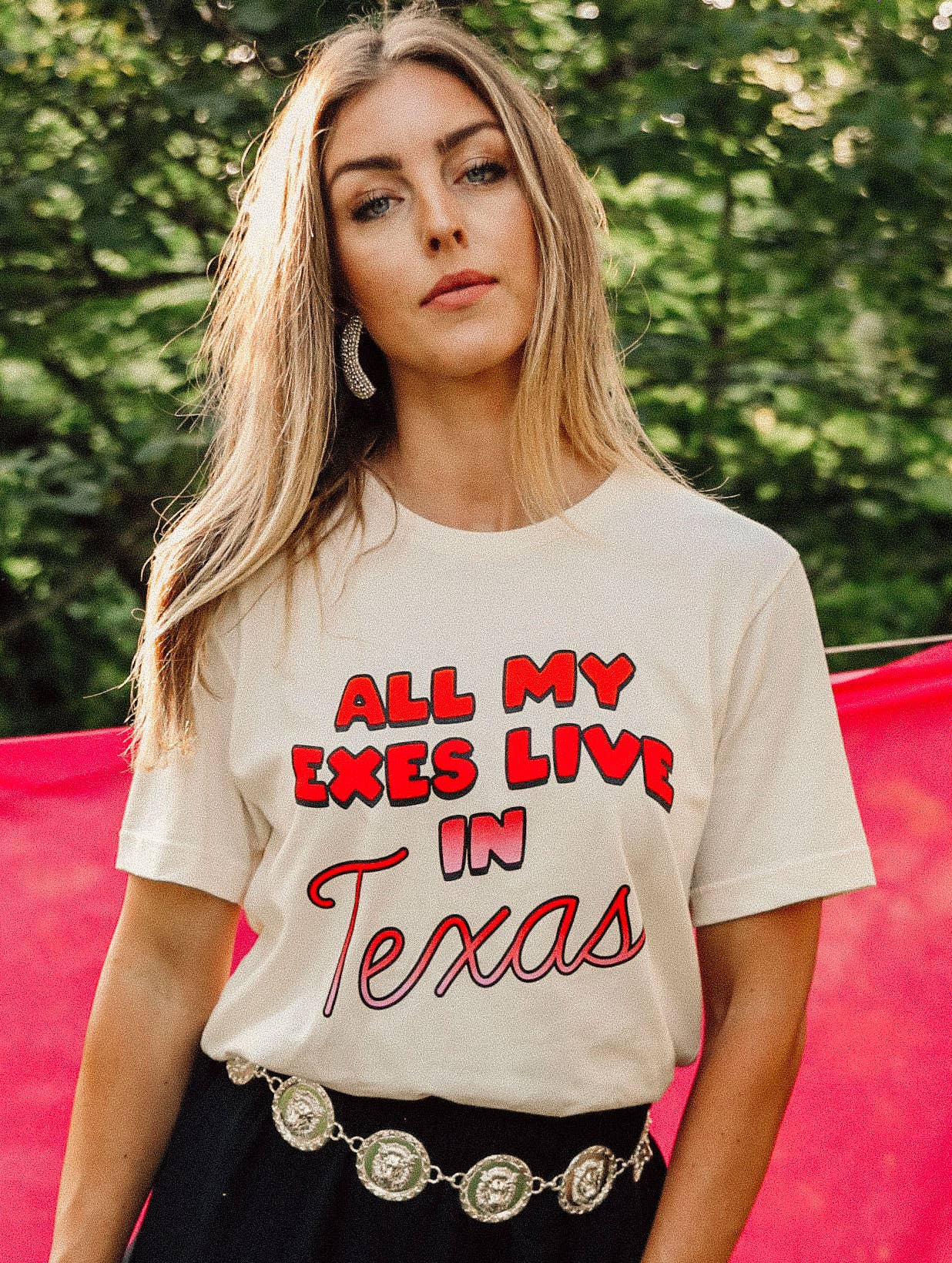 Charlie Southern All My Exes Live In Texas Tee