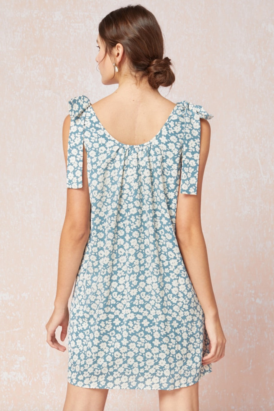 Floral Tie-Shoulder Dress