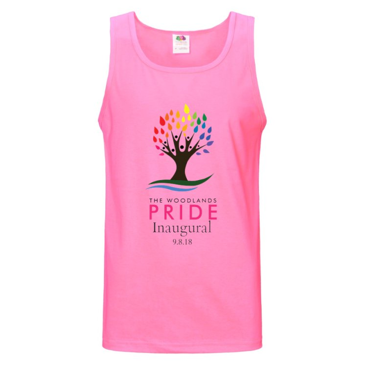 The Woodlands Pride Tank - Neon Pink