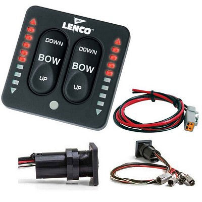 Lenco LED Integrated Tactile Switch Kit w/20' cables