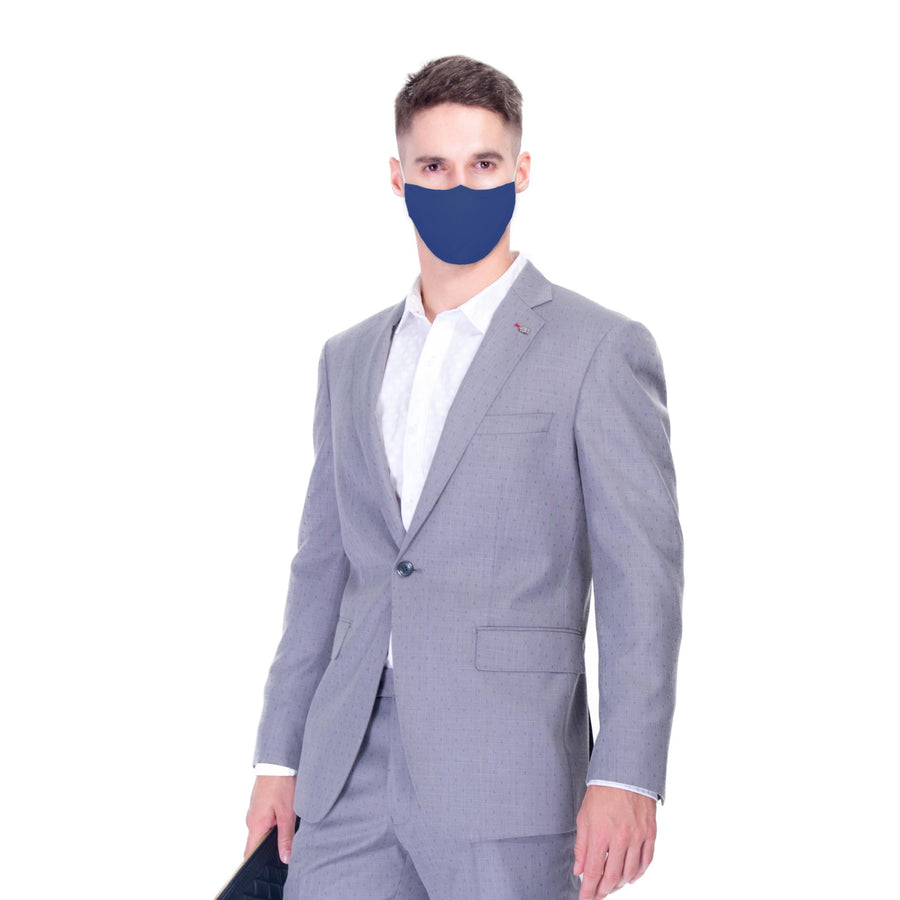 Antibacterial Mask - 5 PK Blue Adult Only