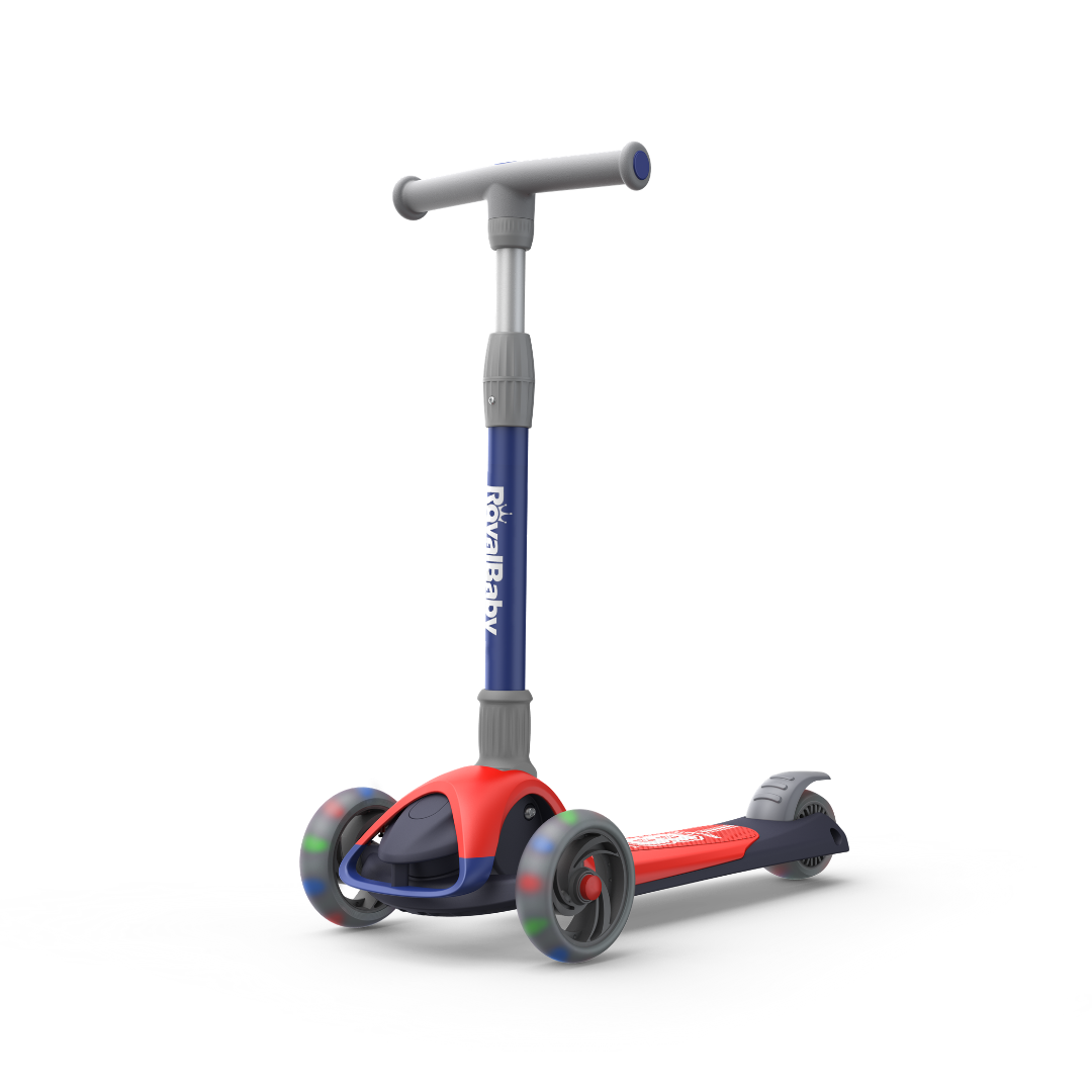 RoyalBaby Kids Scooter Toddlers Speed X1 Foldable Scooter(RB-S1)-Blue/Red