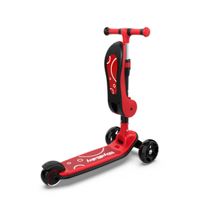 RoyalBaby 2 in 1 Toddler Kids Scooter w/ Seat(089M)-Red