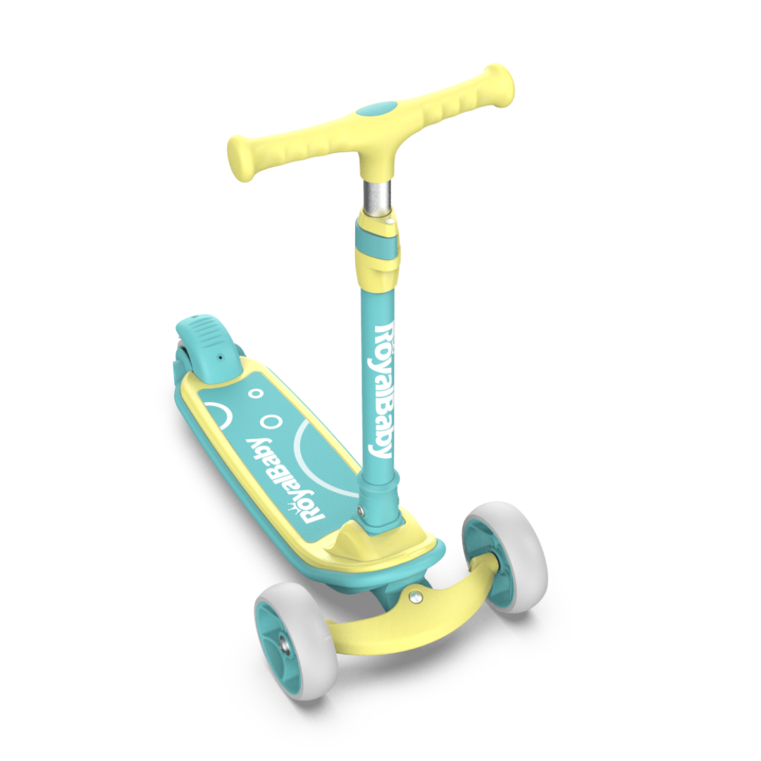 RoyalBaby Upgrade Toddler Kids Scooter(089-19)-Yellow Green