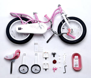 "RoyalBaby Little Swan Bike 16""-Pink"