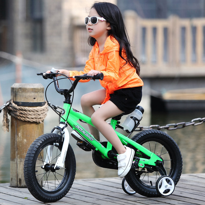 "RoyalBaby BMX Freestyle Kids Bike 12""-Green"
