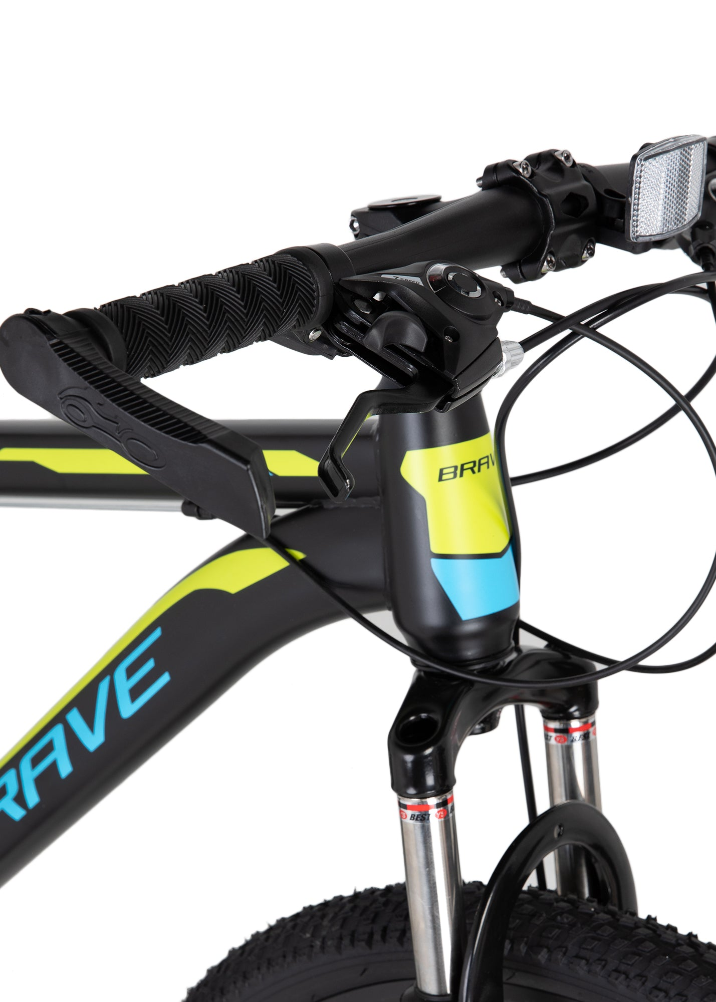 "Brave Hyper Steel Mountain Bike 26""-Black/Blue/Green"