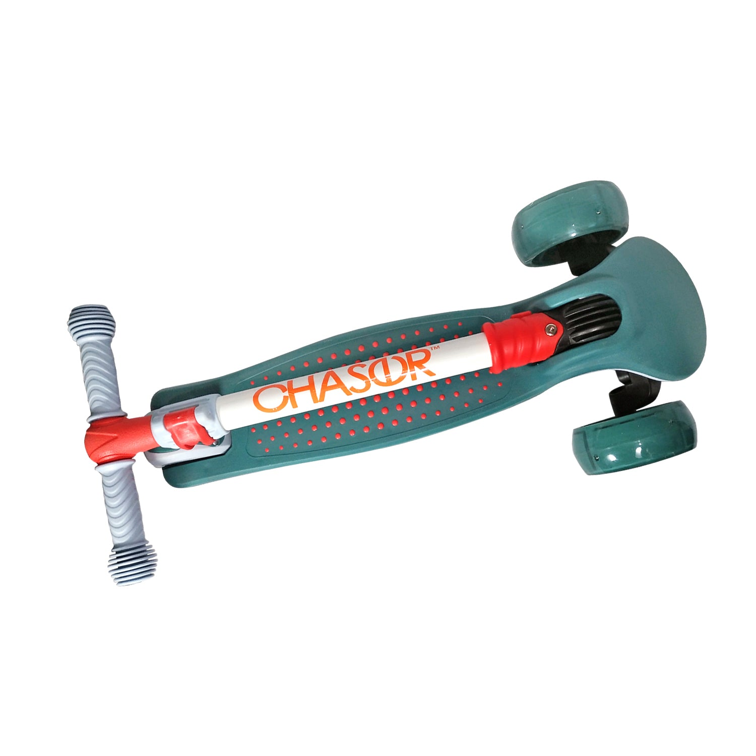 Chaser Pop Dots Folding Scooter (5939)-Teal Green