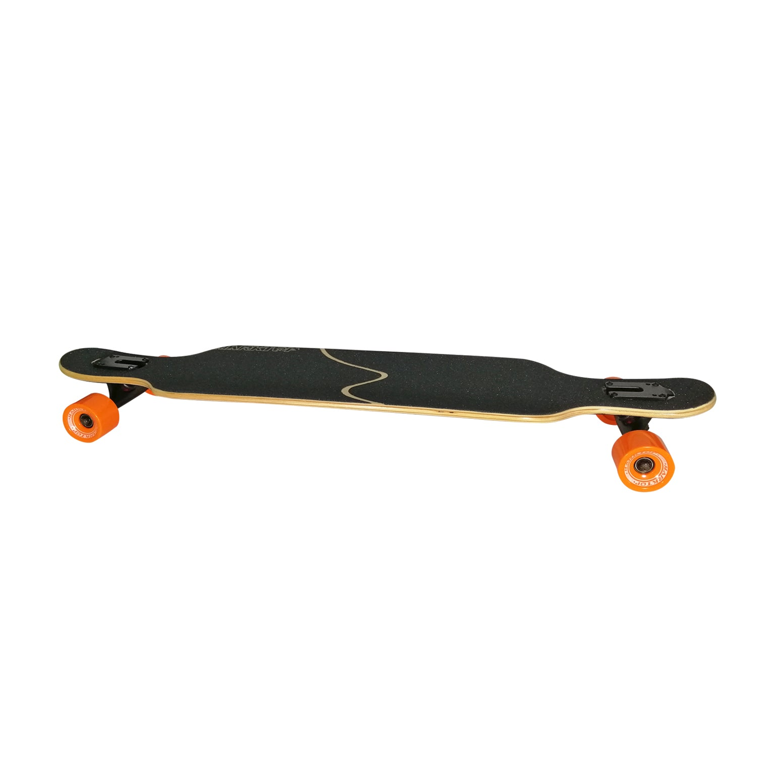 "Chaser 41"" Marktop 7-Ply 1896 Maple Wood Longboard-Maple Fire Black"